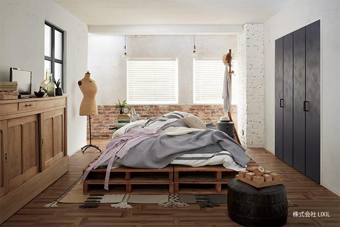 写真:おしゃれな寝室